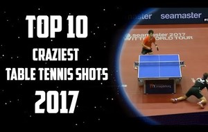 Top 10 Craziest Table Tennis Shots of 2017!